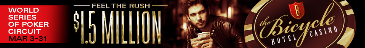 Bicycle club casino poker tournaments lucky nugget casino 1000 free spins